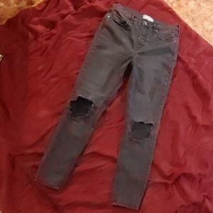 Free People skinny hi rise jeans
